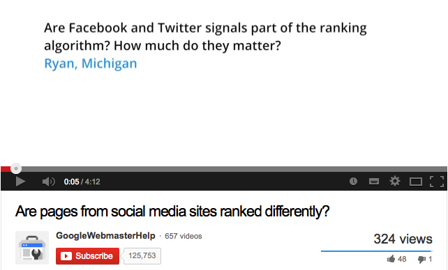 Are pages from social media sites ranked differently? - YouTube 2014-01-23 09-37-54